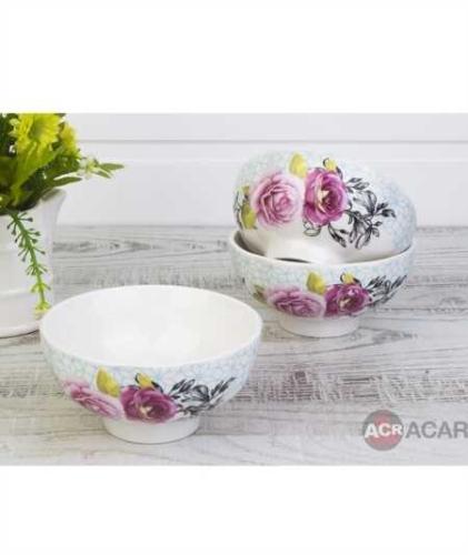 ACAR - Porselen Çiçek Motif Kase